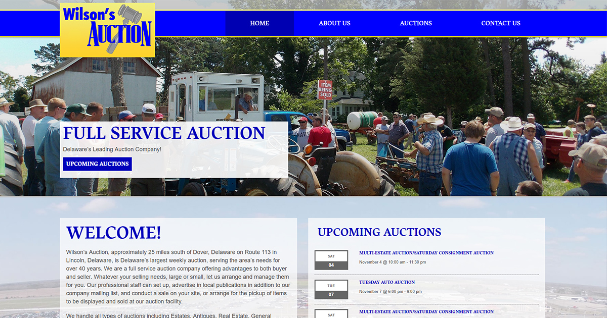 Wilson's Auctions » Delaware's Leading Auction Company